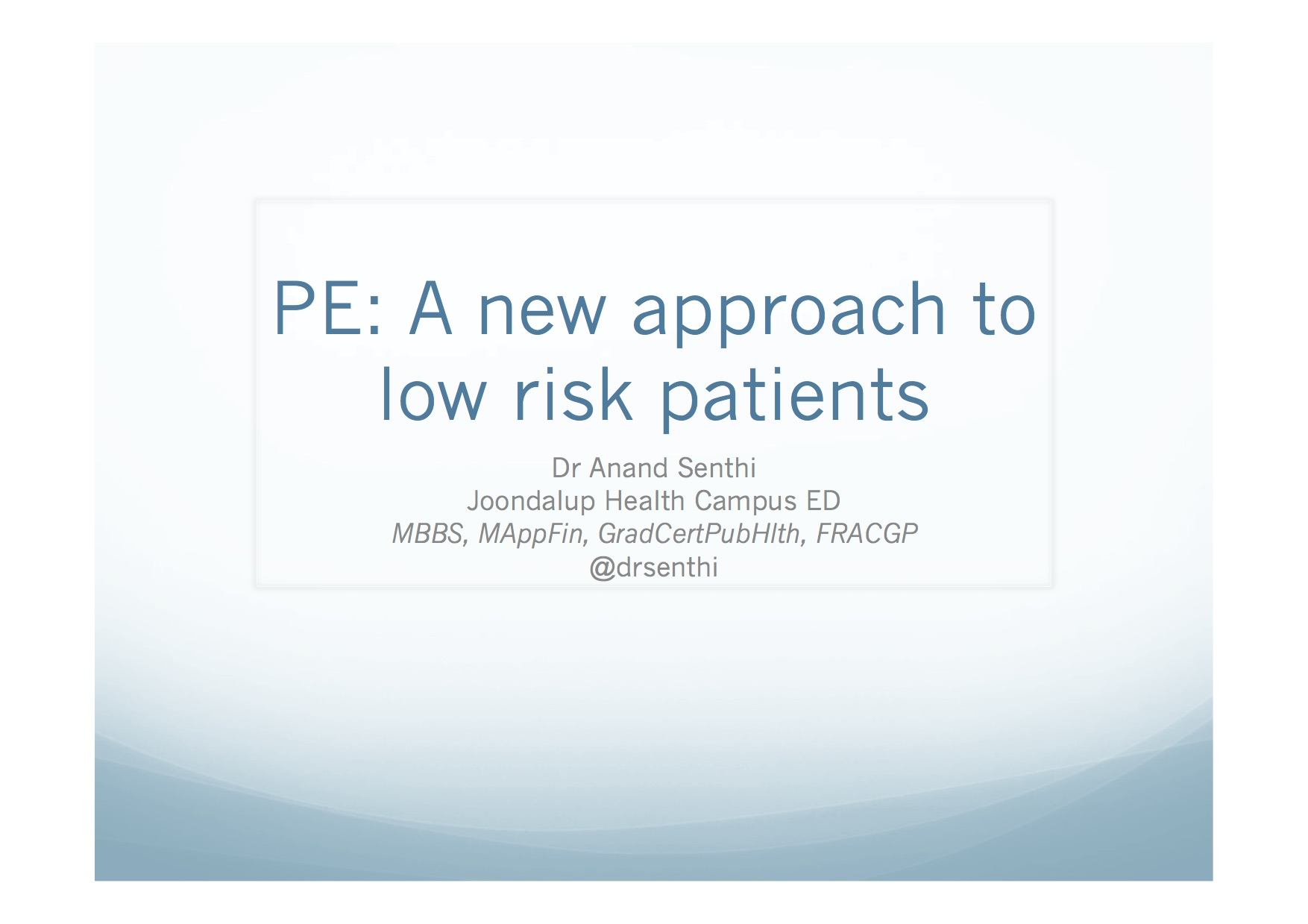 PE Talk ACEM ASM cover page